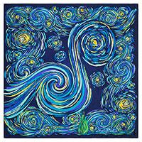 Шелковый платок Freywille с узором в виде спиралей, фото