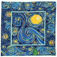 Платок Freywille из шелка синего цвета, фото