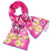 Розовый шарф D.OLYA by Olga Dvoryanskaya из шелка, фото