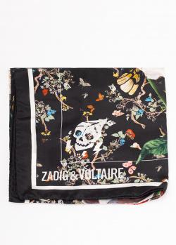 Шелковый платок Zadig & Voltaire Lotty Vanite, фото