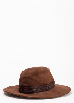 Женская шляпа Zadig & Voltaire Amanda из коричневой кожи, фото