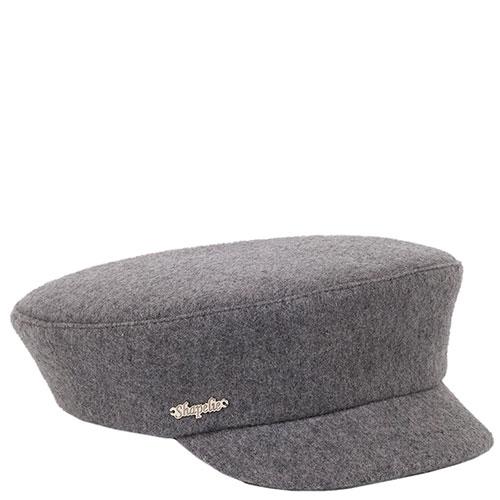 Женская кепка Shapelie с козырьком серого цвета, фото