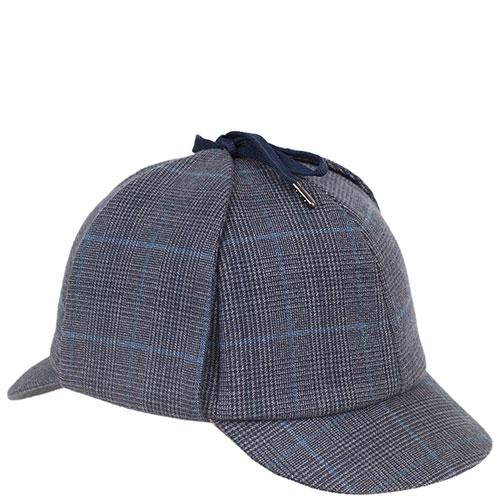 Серая кепка Shapelie Шерлок в клетку, фото