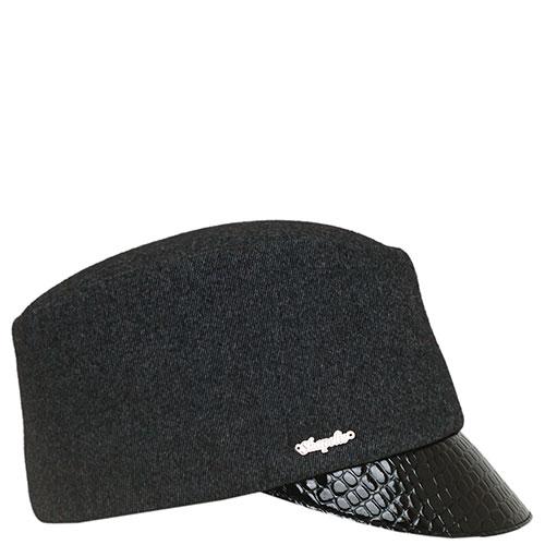 Женская кепка Shapelie утепленная с кожаным козырьком, фото