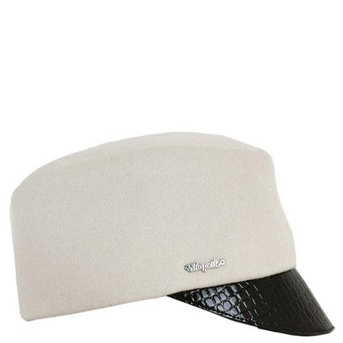 Женская кепка Shapelie с козырьком из кожи, фото