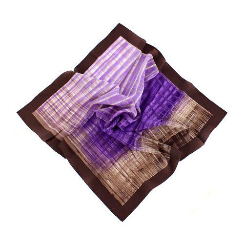 Шелковый итальянский платок Ostinelli Сливовый джем, фото