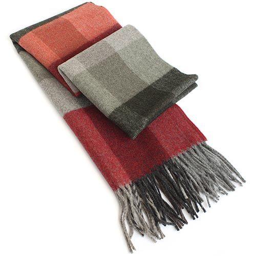 Шарф Maalbi в красно-серый, фото