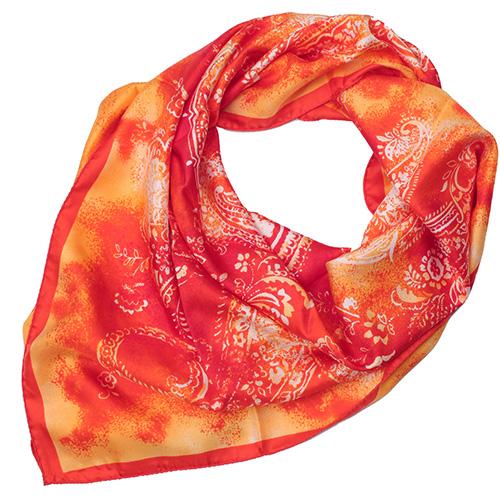 Шелковый платок Fattorseta с цветочным принтом, фото