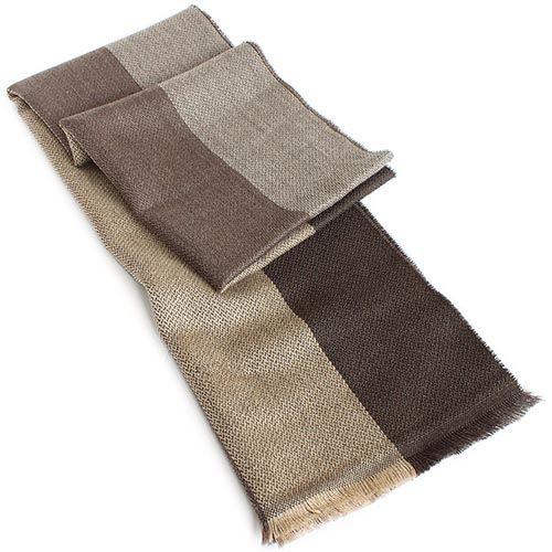 Шерстяной шарф Maalbi в коричневую полоску, фото