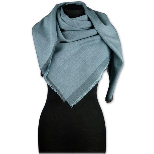 Шерстяная шаль Maalbi серо-голубая, фото