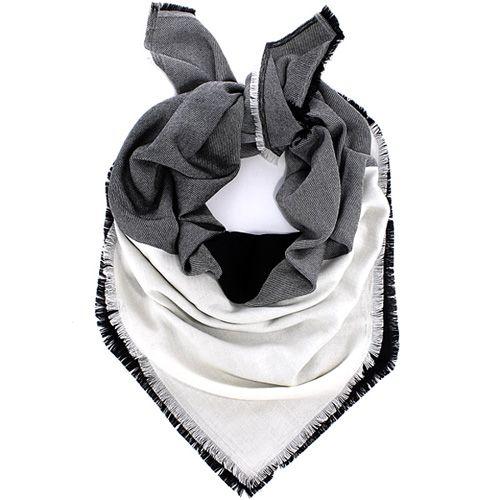 Шерстяной платок Maalbi черно-белый, фото