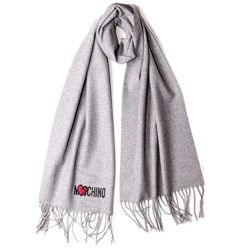 Шерстяной шарф Moschino однотонный, фото