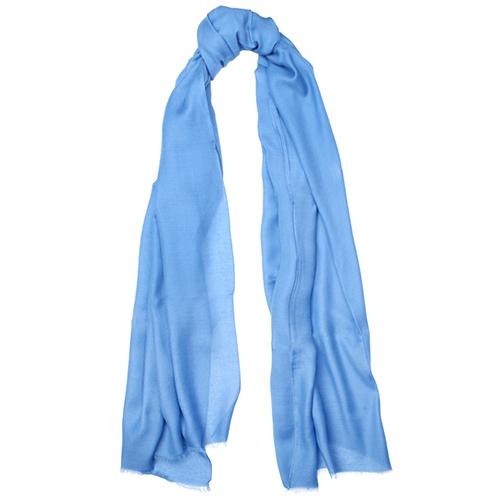 Однотонный палантин Fattorseta голубого цвета, фото