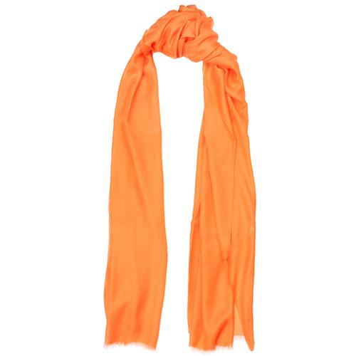 Палантин Fattorseta однотонного оранжевого цвета, фото