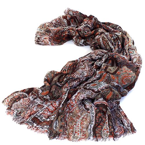 Женский коричневый палантин Maalbi из модала, фото