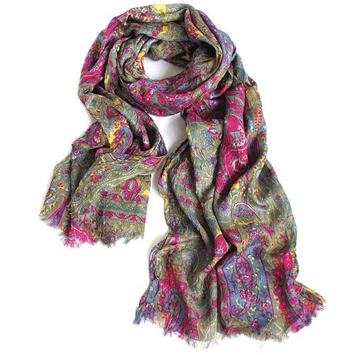 Яркий шарф-плиссе Maalbi из тончайшего модала, фото