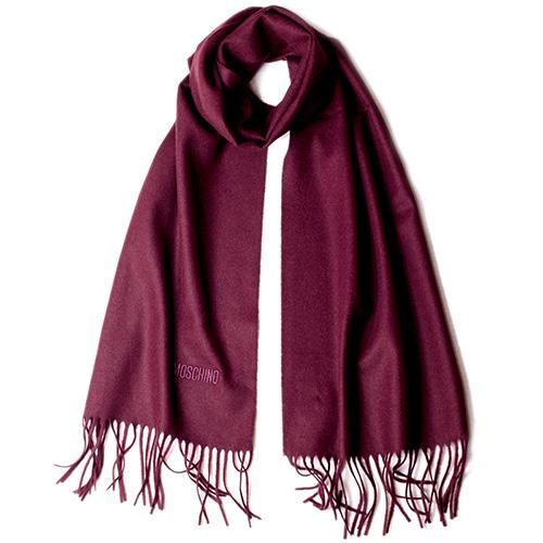 Шерстяной шарф Moschino с бахромой, фото