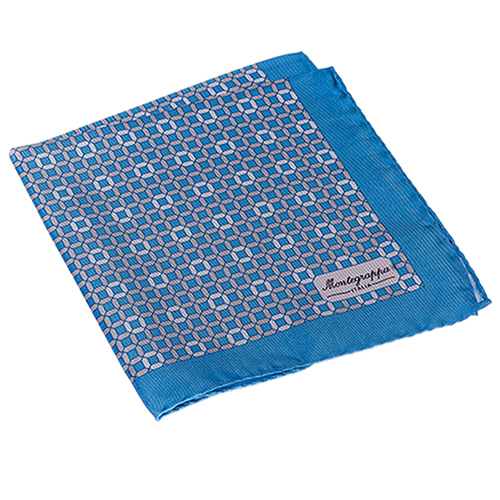 Платок Montegrappa голубого, фото