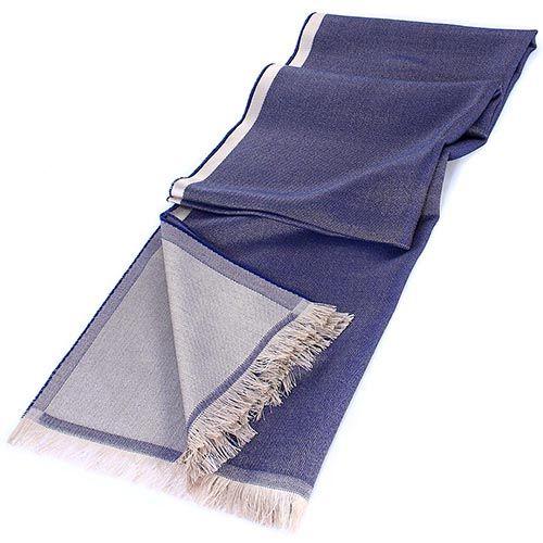 Палантин Maalbi из нитей синего и бежевого цвета, фото