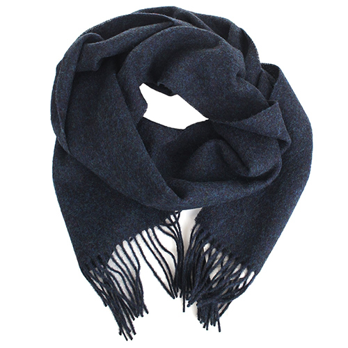 Шерстяной палантин Maalbi темно-синего цвета, фото