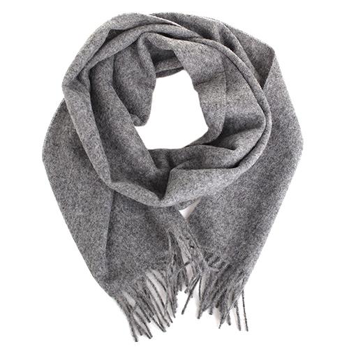 Однотонный палантин Maalbi светло-серого цвета, фото