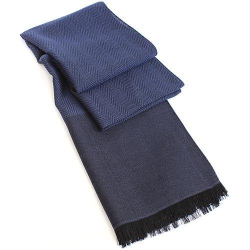 Шарф Maalbi из шерсти и шелка джинсового цвета, фото