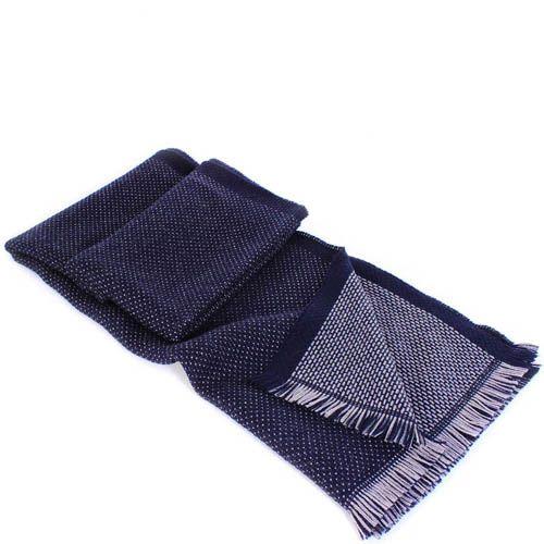 Шерстяной шарф Maalbi глубокого синего цвета, фото