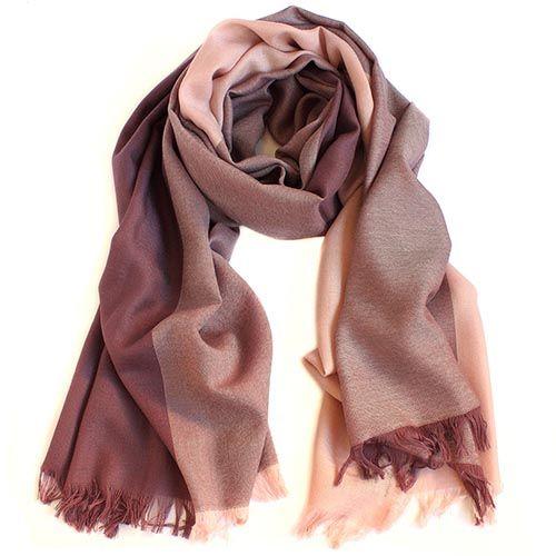Шерстяной палантин Maalbi в пепельно-розовых оттенках, фото
