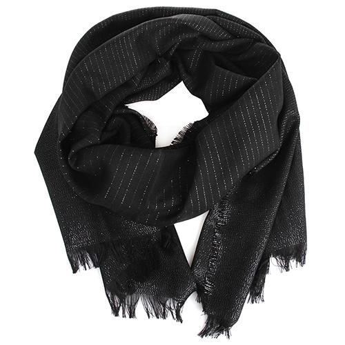 Тонкий палантин Maalbi черного цвета, фото