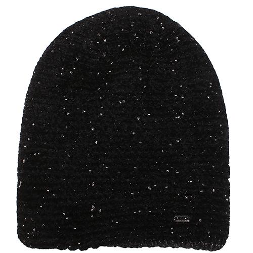 Черная шапка Vizio Collezione с бисером , фото