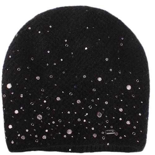Черная шапка Vizio Collezione декорированная пайетками, фото