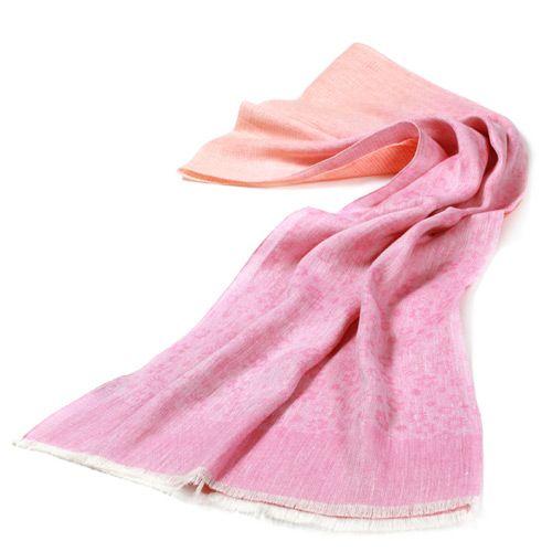 Льняной шарф Ostinelli с розовыми оттенками, фото