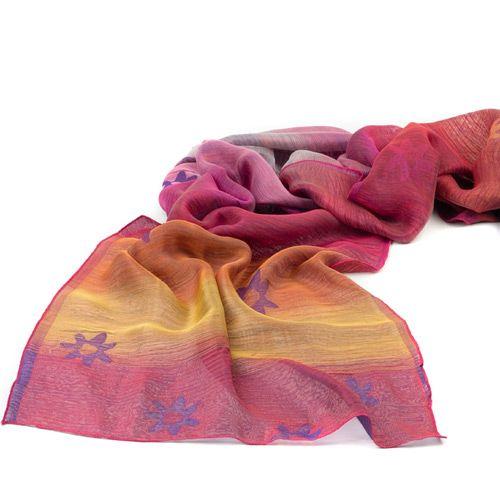 Шелковый шарф Ostinelli Тропический закат, фото