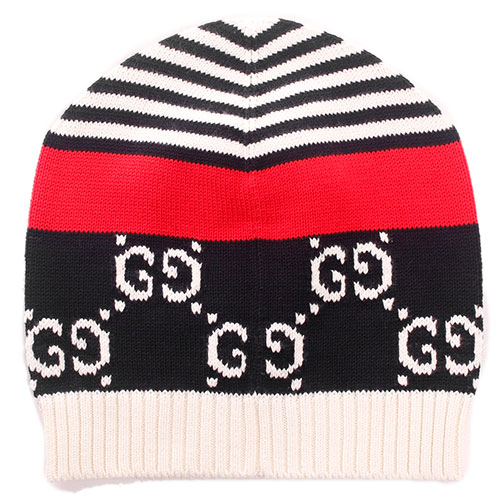 Хлопковая шапка Gucci с орнаментом, фото