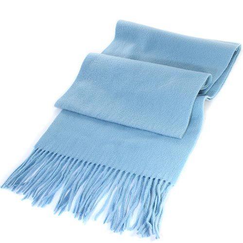 Шерстяной шарф Maalbi нежно-голубого цвета, фото