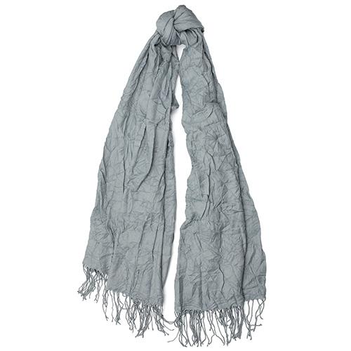Серый шарф Fattorseta однотонный с плиссировкой, фото