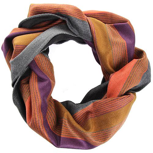 Шелковый шарф Amo Accessori яркую полоску, фото