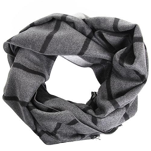 Шелковый шарф Amo Accessori серый с черным, фото