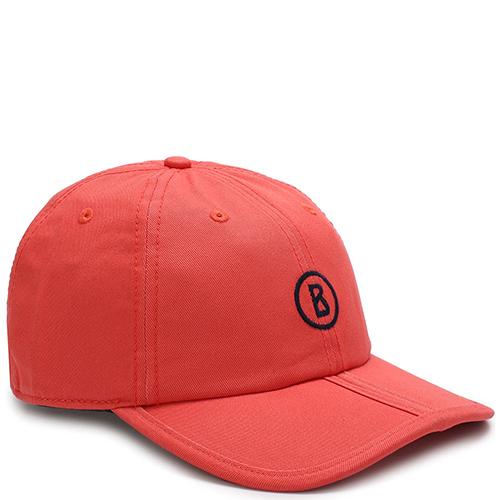 Красная кепка Bogner с вышивкой-логотипом, фото