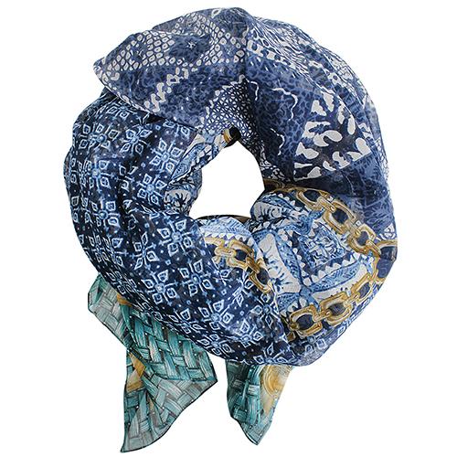 Платок Fattorseta в оттенках синего, фото