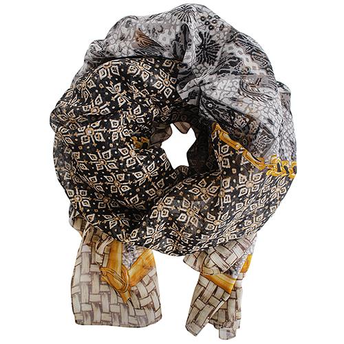 Хлопковый платок Fattorseta коричневого цвета, фото