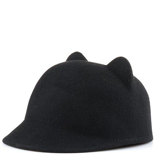 Кепи с кошачьими ушками черного цвета, фото