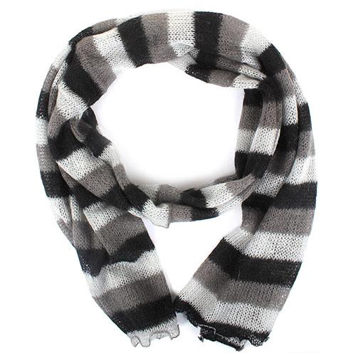 Серый шарф Fattorseta из шерсти, фото