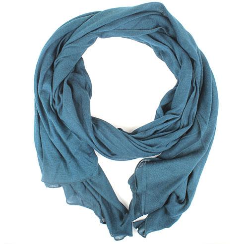 Широкий шарф Ostinelli синего цвета, фото