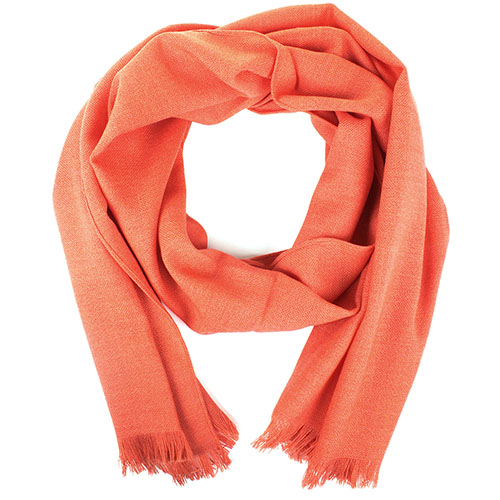 Коралловый шарф Maalbi из натуральной шерсти, фото