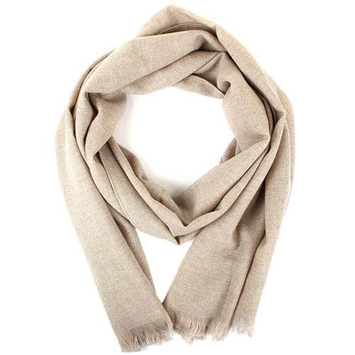 Бежевый шарф Maalbi из натуральной шерсти, фото