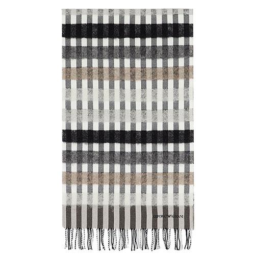 Женский шарф Emporio Armani серого цвета, фото