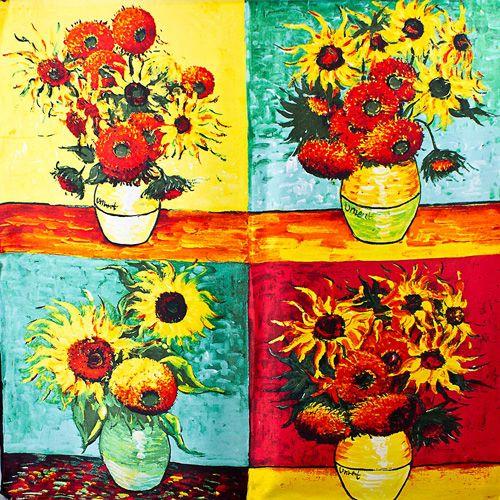 Шелковый платок Eterno Ван Гог Подсолнухи, фото