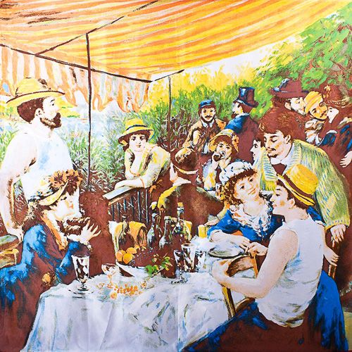 Шелковый платок Eterno Ренуар Завтрак гребцов, фото