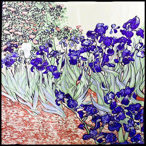 Шелковый платок Eterno Ван Гог Натюрморт с ирисами, фото
